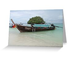 LONG TAIL BOAT IN THAILAND Greeting Card