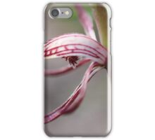 Pyrorchis nigricans Macro iPhone Case/Skin