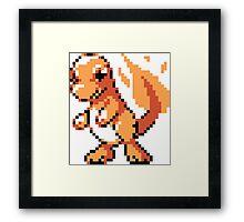 #004 - Charmander Retro 8-Bit Framed Print