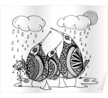 Wee Three, April Showers Poster