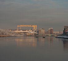 Winter on the Lagan River in Belfast  by Jon Lees