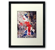 UK Flag Map Framed Print