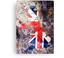 UK Flag Map Canvas Print
