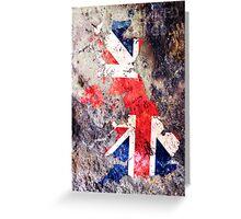 UK Flag Map Greeting Card