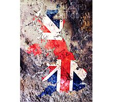 UK Flag Map Photographic Print