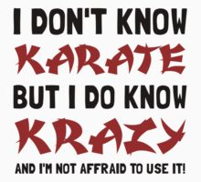 Karate Krazy Kids Clothes