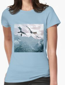 Flying dragon Womens Fitted T-Shirt