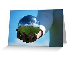 The world in my hand Greeting Card