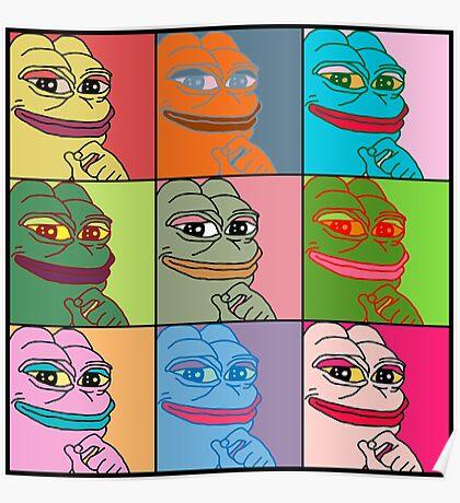 Rare Pop Art Marilyn Monroe Pepe the Frog Poster