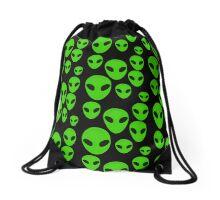 Little Green Aliens Drawstring Bag