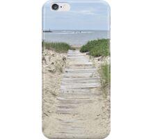 Boardwalk to the beach iPhone Case/Skin