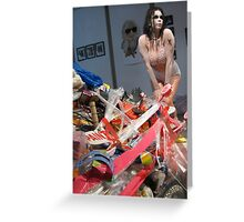 Sexy doll in trash Greeting Card