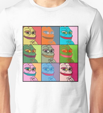 Rare Pop Art Marilyn Monroe Pepe the Frog Unisex T-Shirt