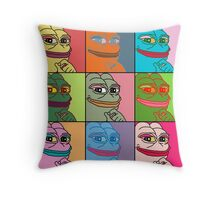 Rare Pop Art Marilyn Monroe Pepe the Frog Throw Pillow