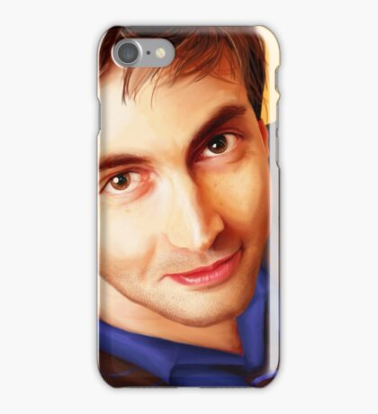 The Tenth Doctor Smiles iPhone Case/Skin
