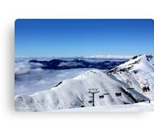 Saddle chairlift at Treble Cone Canvas Print