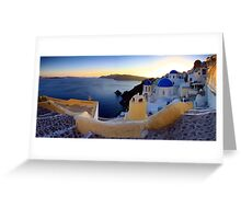 blue dome panno Greeting Card
