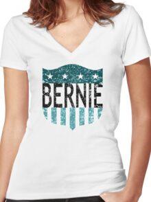 BERNIE sanders stars and stripes Women's Fitted V-Neck T-Shirt