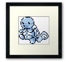 #007 - Squirtle Retro 8-Bit Framed Print