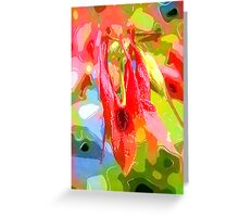 Fancy Red Greeting Card