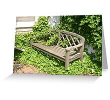 Lonely Bench Greeting Card