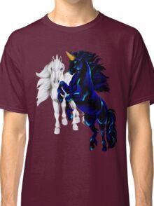 Two Unicorn Stallions  Classic T-Shirt