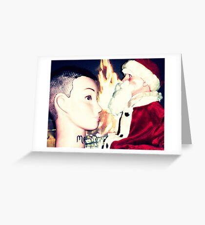 Santa Hugo Explains To Mandy That The Tribute Of Skulls Given By Her Followers Is Not In Keeping With The Spirit Of Christmas Greeting Card