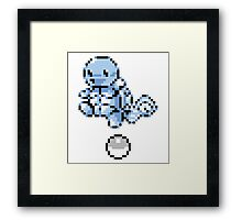 Squirtle With Pokeball Retro 8-Bit Framed Print