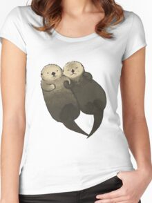Significant Otters - Otters Holding Hands Women's Fitted Scoop T-Shirt