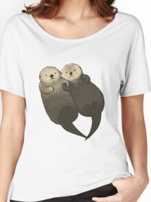 Significant Otters - Otters Holding Hands Women's Relaxed Fit T-Shirt