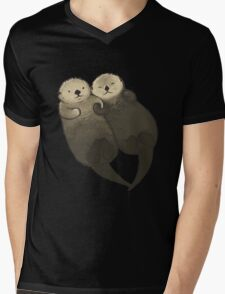 Significant Otters - Otters Holding Hands Mens V-Neck T-Shirt