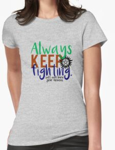 AKF - Text Womens Fitted T-Shirt