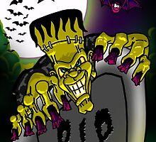Graveyard Frankenstein by SquareDog