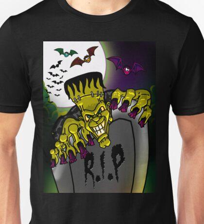 Graveyard Frankenstein Unisex T-Shirt