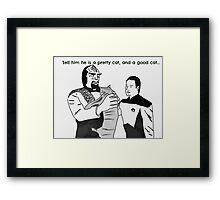 An Ode To Spot: I'm kidding, I'm kidding.. Framed Print