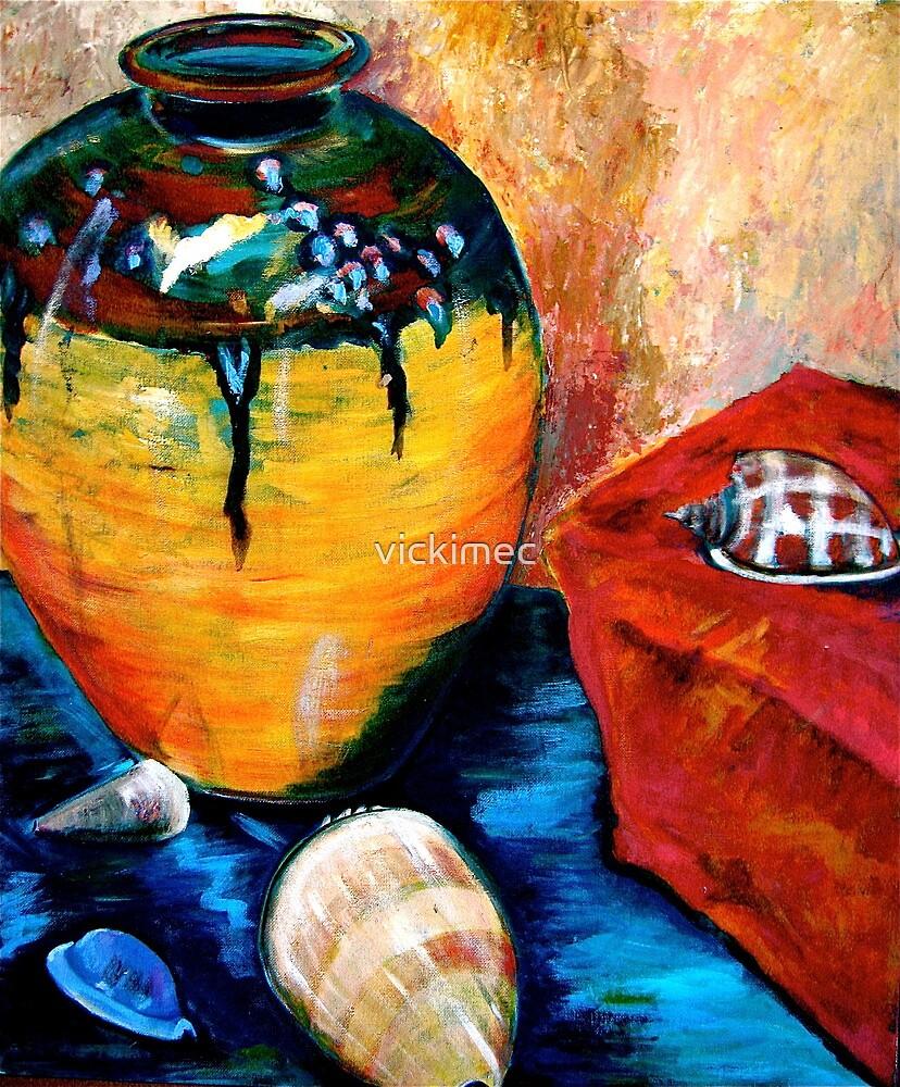 Still life with a vase  by vickimec