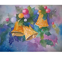 Christmas Bells after a Christmas Card Photographic Print