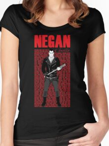 The Walking Dead - Negan & Lucille 5 Women's Fitted Scoop T-Shirt