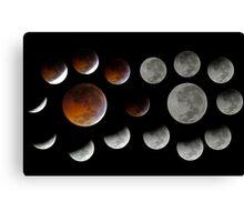 Lunar Eclipse 2010-12-21 Canvas Print