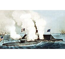 Battle Of The Monitor And Merrimack Photographic Print