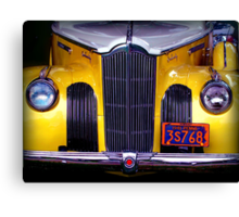 The Old Yellow Packard Canvas Print