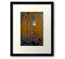 East Side of the Erechtheum, Greece Framed Print