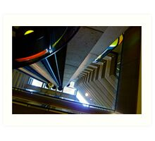 Looking Up Hyatt Embarcadero Elevator, San Francisc, CA Art Print