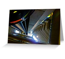 Looking Up Hyatt Embarcadero Elevator, San Francisc, CA Greeting Card