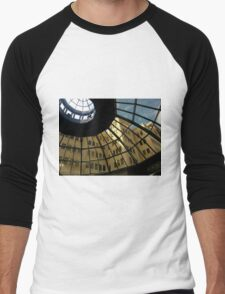 View through glass rotunda, Kleman Plaza Tallahassee Men's Baseball ¾ T-Shirt