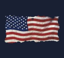 Tattered Grunge Patriotic USA Flag, United States by NaturePrints