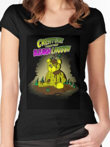 Creature from the Bleurgh Lagoon - in technicolor Women's Fitted Scoop T-Shirt