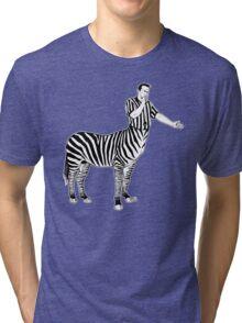 Zebra Centaur Tri-blend T-Shirt