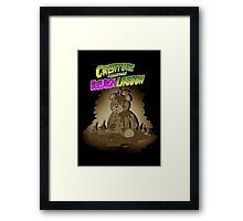 Creature from the Bleurgh Lagoon - in Sepiatone Framed Print