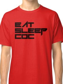 eat, sleep, coc (clash of clans) typography - foughtknight Classic T-Shirt